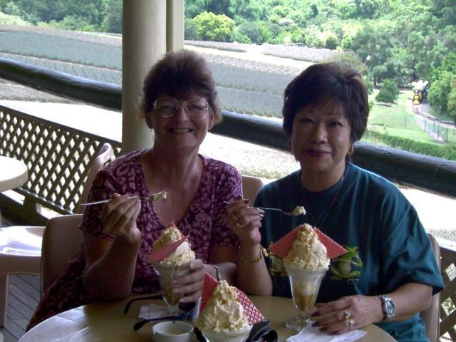 image 120-2001-jun-about-to-tackle-macadamia-nut-sundae-at-the-big-pineapple-with-bev-jpg